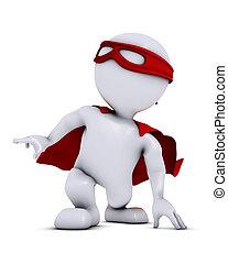 3D Morph Man super hero - 3D Render of Morph Man  super hero
