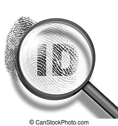fingerprint identification concept - fingerprint ID through...