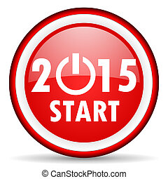 new year 2015 web icon