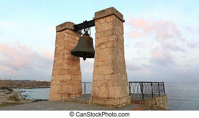 Bell of Chersonesos at sunrise, Sevastopol, Crimea