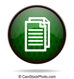 document green internet icon