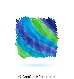 Hand drawn watercolor stripped banner. Vector illustration