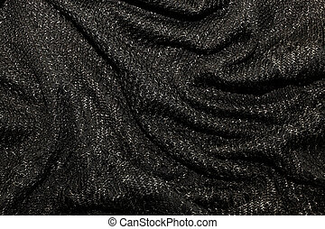 black metallic fabric pattern texture background