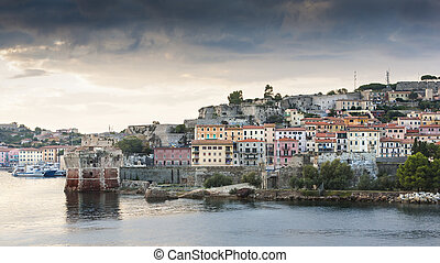 Elba - Famous scen of Elba island, view from the sea