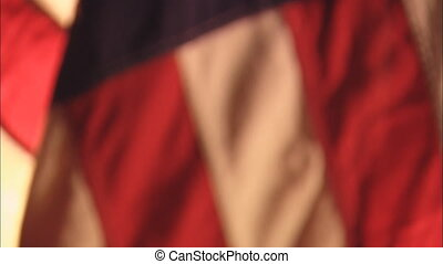 Flag Tilt All Out Of Focus - CU of United States flag...