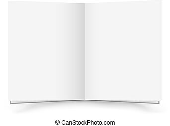 Open blank book - The open blank book with shadow on the...