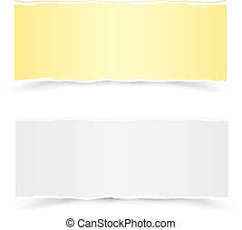 yellow and white pieces of paper
