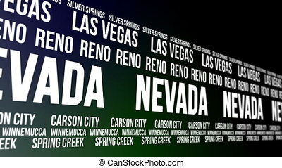 Nevada State Major Cities Banner - Animated scrolling banner...