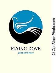 Flying bird logo, art vector design