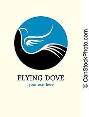 Flying bird logo, art vector design