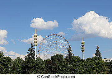 Ferris Wheel. VDNKh (All-Russia Exhibition Centre) is a...