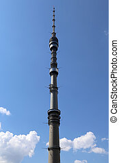 Ostankino television tower in Moscow, Russia Standing 5401...
