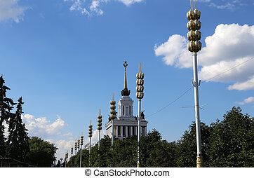 Landmarks in the territory of VDNKh (All-Russia Exhibition...