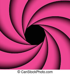 Pink rainbow swirl, Abstract color background