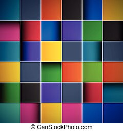 Color tiles, abstract background