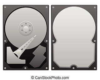 hard disk - Hard disk on a white background.