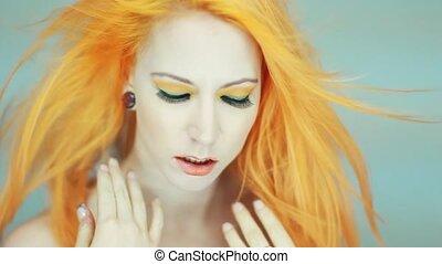 Beauty Portrait of Womans Face