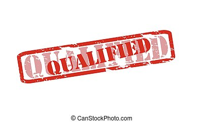 Qualified - Rubber stamps with word qualified inside, vector...