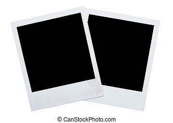 polaroid frames isolated on white background