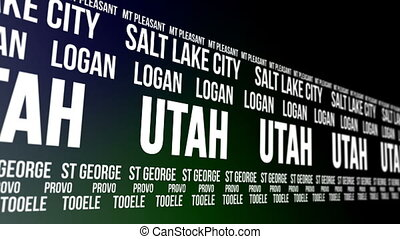 Utah State Major Cities Banner - Animated scrolling banner...