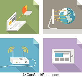 Modern technology concepts. Design elements