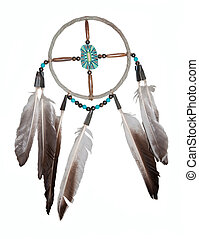 Dream catcher - original from an indian reservation in the...