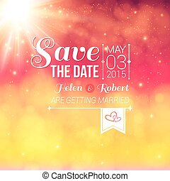 Save the date for personal holiday. Wedding invitation on a love