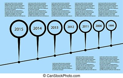 vector simple graphic timeline