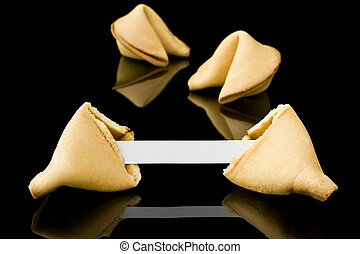 Fortune cookie with a blank message