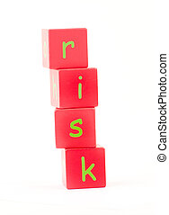 Risk Spelt out in letters - Risk Spelt out in Block letters