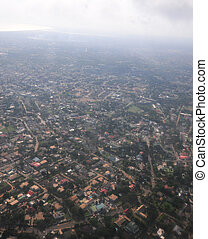 Aerial View of Accra, Ghana - Aerial view of the city of...