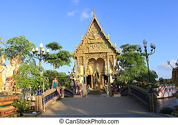 Buddhist temple in Samui island, Thailand