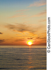 Sunset - Abstract ocean and sunset background