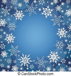 Winter celebratory background with snowflakes - Beautiful...