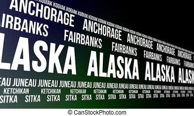 Alaska State Major Cities Banner - Animated scrolling banner...
