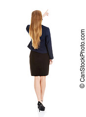 Businesswoman back view