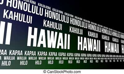 Hawaii State Major Cities Banner - Animated scrolling banner...