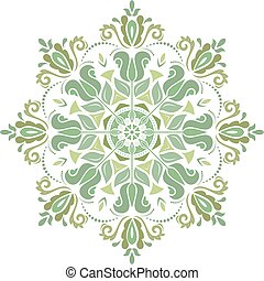 Floral Vector Pattern. Orient Abstract Background - Floral...