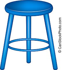 Retro stool in blue design