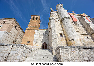 Treaty house in Tordesillas - Wide angle view of Tordesillas...