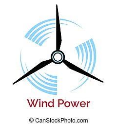 power making wind turbine company logo - power making...