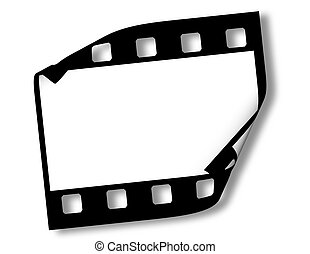 Blank film frame on white