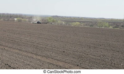 tractor rides in spring - tractor rides through the black...