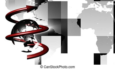 Globe spinning - 3d Globe Spinning