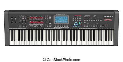 Professional musical synthesizer - Creative abstract...