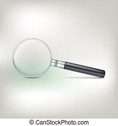 Magnifying glass, photo-realistic vector illustration -...
