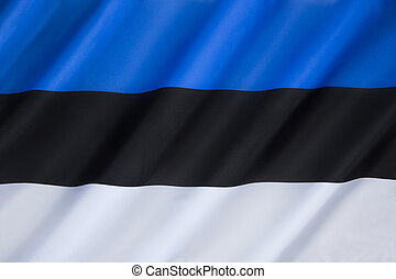 Flag of Estonia - The national flag of Estonia - adopted on...