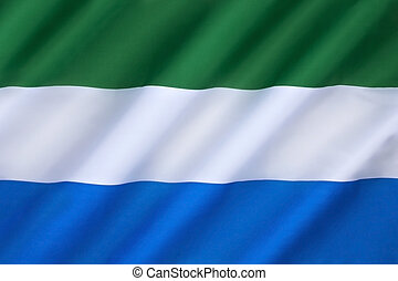 bandeira, de, Sierra, Leone,
