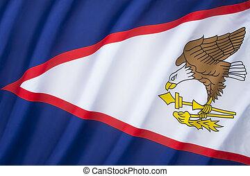 bandiera, di, americano, Samoa,