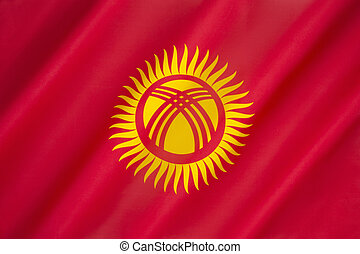 Flag of Kyrgyzstan - Flag of The Republic of Kyrgyzstan -...